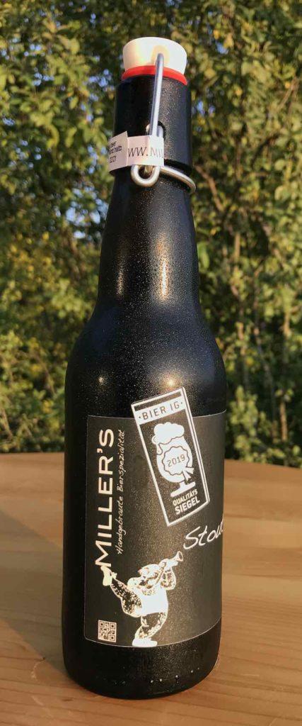 Eine von Miller's Biersorten: Das Stout, ungefiltert